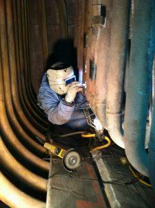 Reparación de roturas en tubos de boiler industrial