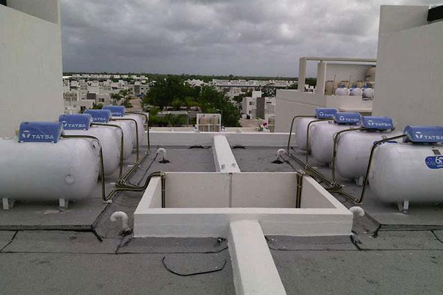 Calentadores de agua sin tanque para edificios