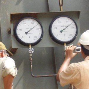 Pruebas hidrostáticas boiler industrial