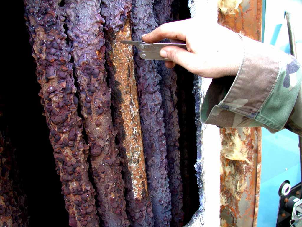 Calderas, causas y tipos de corrosión